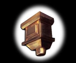 Dyn Copper Conductor Head with Raised Panels